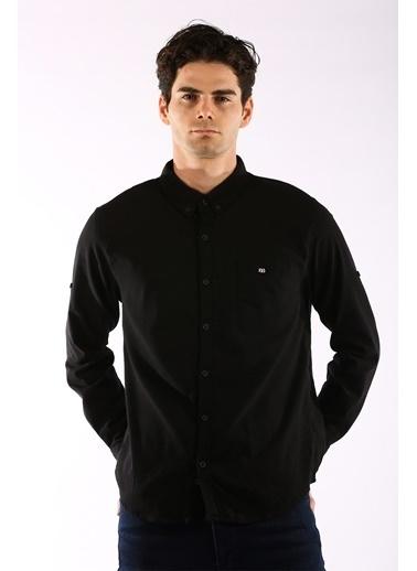 Rodrigo 1456 Cepli Lıkralı Erkek Gömlek Siyah